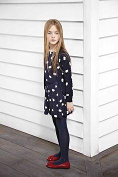 Polkadot dress. Armani Junior Fall 2013.