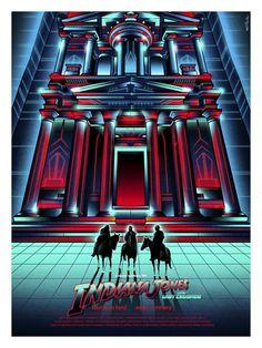 The Geeky Nerfherder: Cool Art: 'Indiana Jones And The Last Crusade' by Van Orton Design