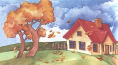 Fall Season, Watercolor Art, Autumn, Seasons, Kids, Painting, Image, School Routines, Daily Routines