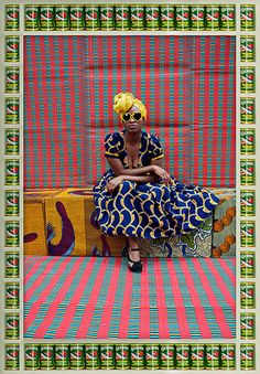Gorgeous pop colours! We are very inspired by this look... visit us at www.melko.com.au! [Hassan Hajjaj's Rockstars]