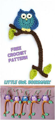 Little Owl Bookmark Free Crochet Pattern