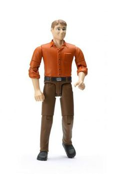 Man with Blond Hair and Shoes (positionable) by Bruder Toy Toys