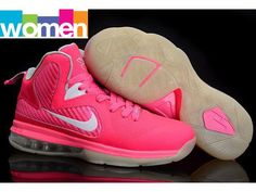 Nike Lebron 9 IX Women Basketball Shoes-Pink White....... Oh to go back to my younger years playing basketball, these would be mine! :)