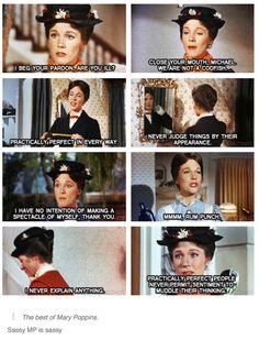 Sassy Mary Poppins is sassy