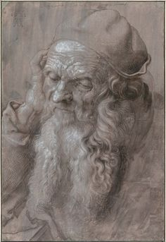 Head of an Old Man, 1521 - Albrecht Dürer - Pictify - your social art network