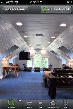 Cool attic idea-Add large windows for natural light.