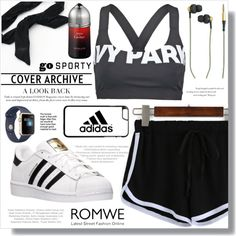 Sporty by fashion-rebel-chic on Polyvore featuring Ivy Park, adidas, Candie's, Kreafunk, Cartier and Balenciaga