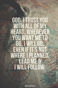 Trust God's plan.