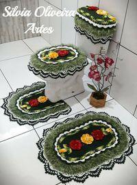 Jg banheiro Owl Bathroom Set, Bathroom Rugs, Crochet Parrot, Crochet Bunny, Crochet World, Crochet Home, Bubble Quilt, Simply Crochet, Crochet Doilies