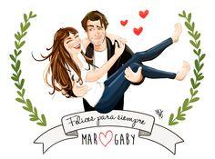 #Family #portrait #illustration #draw #wedding #couple #love #digitalpaintig #belenmarmaneu www.belenmarmaneu.jimdo.com