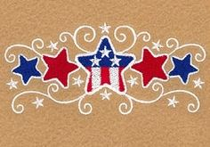 Stars and Swirls Small - - Products - SWAK Embroidery Local Embroidery, Types Of Embroidery, Learn Embroidery, Machine Embroidery Patterns, Embroidery Applique, Quilting Thread, Machine Quilting, American Flag Drawing, Patriotic Decorations