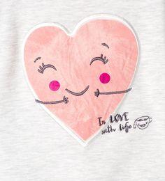 Image 4 of Heart print sweatshirt from Zara