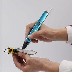 3D Pen USB Plug 5V 2A Creative Caneta Pen 3D graffiti pen Digital 4 speed regulation Best Gift For Kids 3D Painting Creative Pen
