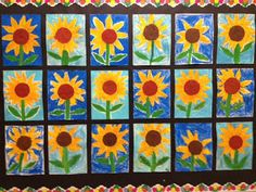 Sunflowers for Georgia O'Keeffe Cookies & Canvas in March.