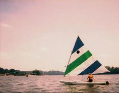 Sunfish - what I learned to sail on :)