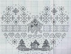 Cross Stitch Christmas Sampler Heart1