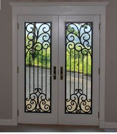 Etonnant These Inserts Really Dress Up A Boring Patio Door! They Are Made From  Expanded PVC · Wrought Iron ...