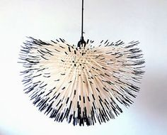 HABITAT Eight Fifty cult hedgehog cable tie light designed by Claire Norcross Chandelier Art, Chandeliers, Contemporary Baskets, Geometric Sculpture, Cable Tie, Fabric Textures, Boho Diy, Mirror With Lights, Lamp Light