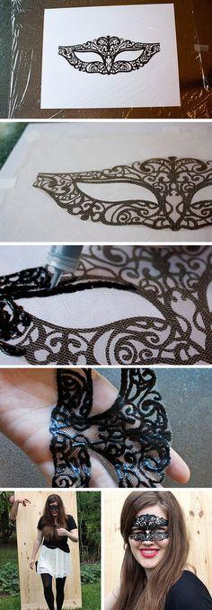 Lacey Mardi Gras Mask | 7 DIY Mardi Gras Masks