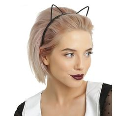 Black Formal Cat Set Ears Tail Bow and Cuffs Women Ladies Partyfun Accessory