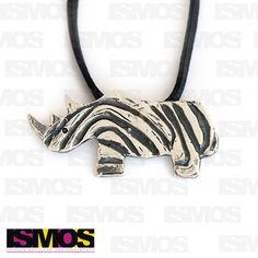 ISMOS Joyería: dije de plata de rinoceronte // ISMOS Jewelry: rhino silver pendant