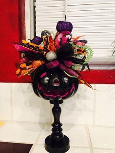 Whimsical Halloween pumpkin by UniqueFloral on Etsy Whimsical Halloween, Halloween Music, Halloween Projects, Holidays Halloween, Spooky Halloween, Halloween Pumpkins, Halloween Party, Halloween Ideas, Halloween Wreaths