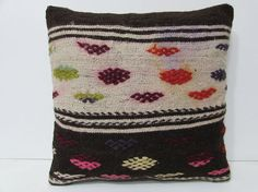 20x20 kilim pillow 20x20 oversized throw by DECOLICKILIMPILLOWS