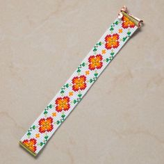 Sunny Month of May Bead Loom Cuff Bracelet Native by PuebloAndCo