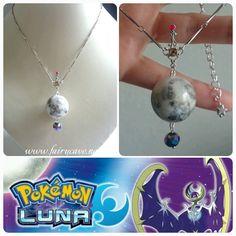 Colgante inspirado en Lunala, Pokémon Luna. Luna en miniatura. de FairyCaveShop en Etsy