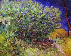 Vincent van Gogh, Lilac Bush, 1889 on ArtStack #vincent-van-gogh #art