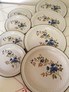 Vintage Plates Country Casual Hand Painted Stoneware by KathiJanes $14.95 | Vintage Home | Pinterest | Country casual Vintage plates and Stoneware & Vintage Plates Country Casual Hand Painted Stoneware by KathiJanes ...