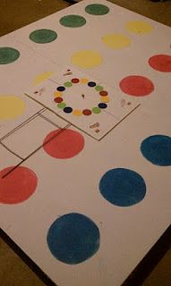 This Homemade Twister Game was a great Earth Day project, reusing an old ping pong table for new family fun.  Thanks for sharing this great idea that teaches left and right.  Love it!