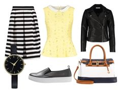Girly streetstyle look with edge of rock n roll. Summer fashion