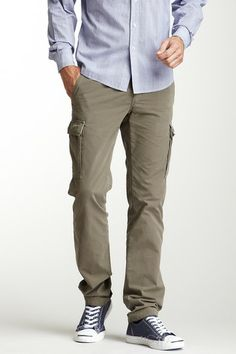 Mason's Chicago Slim Fit Cargo Pant in Olive