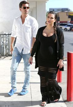 Kim Kardashian and Scott Disick at Baby CPR lessons in LA.