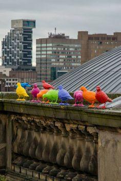 ' Street art by Patrick Murphy in Liverpool. Land Art, Patrick Murphy, Modern Art, Contemporary Art, Street Art, Street Signs, Instalation Art, Urbane Kunst, Arte Pop