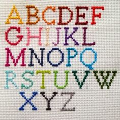 Embroidered Cross Stitch Alphabet Necklace on Etsy Mehr Cross Stitch Letters, Cross Stitch Baby, Modern Cross Stitch, Cross Stitch Designs, Cross Stitching, Cross Stitch Embroidery, Embroidery Patterns, Hand Embroidery, Stitch Patterns