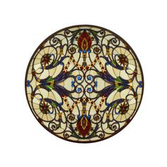 Meyda Tiffany 71886 Tiffany Round Stained Glass Window Pane from the ($4,851) ❤ liked on Polyvore featuring home, home decor, bronze, stained glass panels, wall decor, meyda, round stained glass, bronze home decor, meyda stained glass and windows stained glass