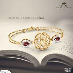 Bracelet -Just another memorabilia of love. #bracelet #gold #diamond #jewellery #caratstyle #fashion #lifestyle #india #shopping