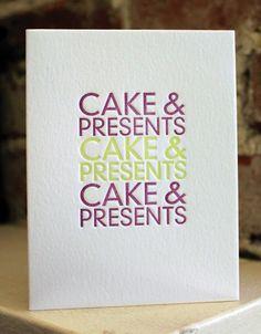 cake & presents