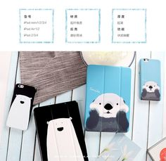 IPad Protective Cute Cartoon case with bears for inch