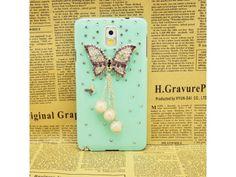 3D Butterfly #Rhinestone Samsung Galaxy #Note 3 Case