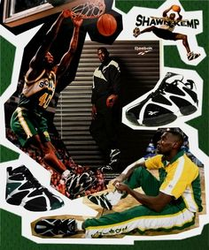 "Shawn ""The Reignman"" Kemp I Love Basketball, Basketball Design, Basketball Pictures, Basketball Legends, Basketball Shoes, Vintage Sneakers, Classic Sneakers, 90s Sneakers, Nba Players"