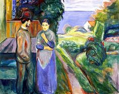 """ Summer evening "" 1925-27 By Edvard Munch"