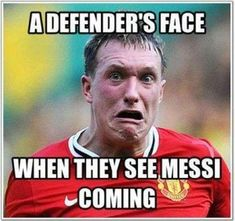 Funny Memes on Messi. Fun football memes and pictures of Leo Messi for Whatsapp (SEE MORE) Funny Soccer Pictures, Funny Football Memes, Funny Sports Memes, Sports Humor, Funny Memes, Soccer Images, Soccer Humor, Football Images, Soccer Stuff