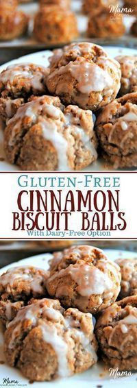 call these Cinnamonies around our house. Gluten-Free Cinnamon Biscuit Balls are a quick and easy special breakfast treat. These mini cinnamon biscuits are a super easy to make. Dairy-free option too. Gluten Free Deserts, Gluten Free Sweets, Foods With Gluten, Gluten Free Cooking, Dairy Free Breakfasts, Gluten Free Recipes For Breakfast, Dairy Free Recipes, Wheat Free Recipes, Gf Recipes