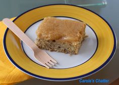 Carole's Chatter: Banana Sheet Cake with Salted Caramel Cream Cheese Frosting Banana Sheet Cakes, Cream Cheese Frosting, Cornbread, Caramel, Cooking, Breakfast, Friday, Ethnic Recipes, Desserts