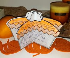 Pumpkin Pie word problems craftivity - perfect math center for Thanksgiving!