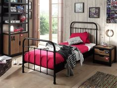 Bring your children's bedroom to life with our range of Bedroom Furniture. Shop bunk beds, children's beds, cabin beds & novelty beds for kids. Bed City, Army Bedroom, Lit Simple, Stylish Beds, Nest Design, Childrens Beds, Bed Reviews, Black Bedding, Metal Beds