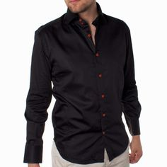 Lauro Shirt Black now featured on Fab.